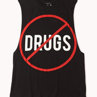 FOREVER 21 No Drugs Muscle Tee