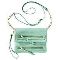 Xhilaration® Fold Over Crossbody Handbag - Mint
