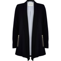 Black smart waterfall jacket