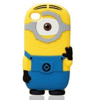 Generic 3D Despicable Me Minion Soft Silicone Case Cover for iPhone 5C (1 Eye)