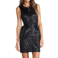 Tibi Tish Embossed Sleeveless Dress in Black from REVOLVEclothing.com