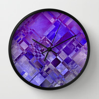 SQUARE THOUGHTS Wall Clock by Catspaws