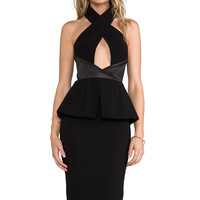 AQ/AQ Karlie Knee Length Dress in Black from REVOLVEclothing.com