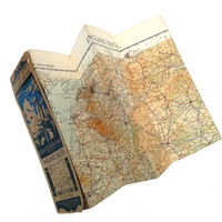 Vintage map of the South of England, Ordinance Survey Map Of South England, quarter inch map, 1930s