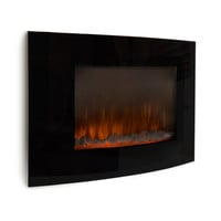 Electric Wall Mount Fireplace with Dual Heat Settings