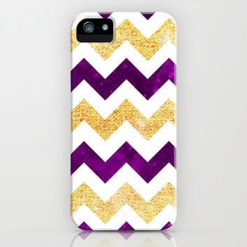 Golden & Purple Chevron - for iphone iPhone & iPod Case by Simone Morana Cyla