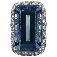 Ruser Aquamarine Diamond Ring 1960s