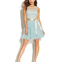 Teeze Me Juniors' Lace Ruffled Dress