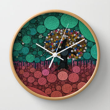 :: Wedding Tree :: Wall Clock by GaleStorm Artworks