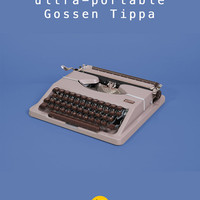 RESERVED /// 1954 Gossen Tippa Typewriter. Refurbished & fully working. Light brown. West Germany. With case. Mid century.