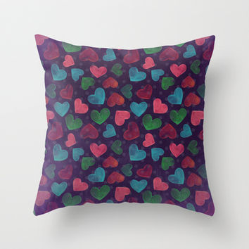 Valentine's Throw Pillow by Louise Machado