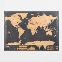 Deluxe Scratch-Off World Map - Urban Outfitters