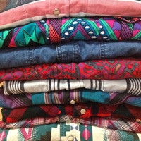 Westerns Shirts for Men or women Vintage Flannel, Cotton, and Snap Button Front