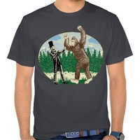 ABE LINCOLN: SASQUATCH HUNTER - Funny Bigfoot Logo
