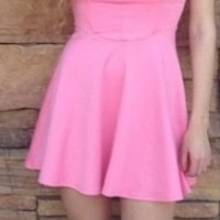 Pink Sweetheart Skater Dress