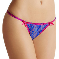 L'Agent by Agent Provocateur Monica Lace G-String Panty L001-32 at BareNecessities.com