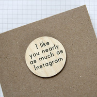 Instagram Greetings Card with Badge