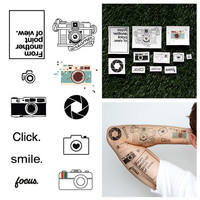 Say Cheese - Temporary Tattoo (Set of 22)