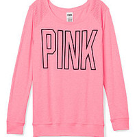 Mesh Shoulder Tee - PINK - Victoria's Secret