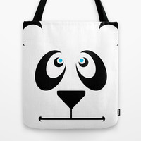 Panda Boo Tote Bag by Pop E. Carp