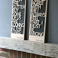 Oscar Wilde Carved Quotation Signs