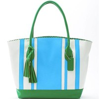 Buco Large Striped Tote Bag - 			        	For Your Little One: Designer Pieces Shop