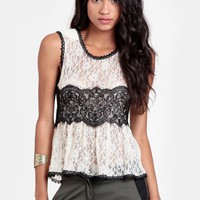 Classic Beauty Lace Peplum Top | Threadsence