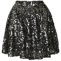 **SEQUIN SKATER SKIRT BY GOLDIE