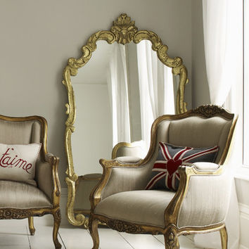 Gilt Trianon Floor Mirror, Floor Mirrors | Graham and Green Mirrors