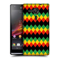 HEAD CASE DIAMOND RASTA COLOUR PATTERN BACK CASE COVER FOR SONY XPERIA SP C5303