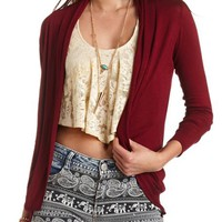 LONG SLEEVE TUNIC-LENGTH COCOON CARDIGAN
