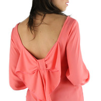 Bow Back Blouse - Coral Pink