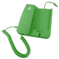 Pyle Home PIRTR60GR Handheld Phone and Desktop Dock for iPhone - Desktop Charger - Retail Packaging - Green