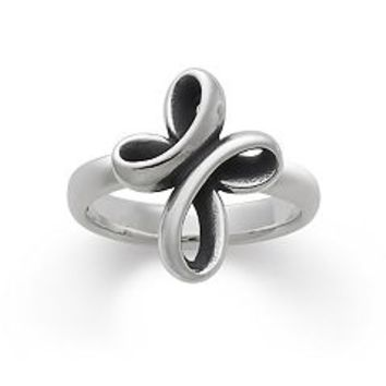 Eternal Ribbon Cross Ring | James Avery