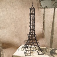 "Eiffel Tower - Wire Sculpture 12"" Tall"