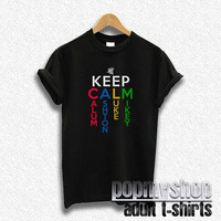 5sos shirt five seconds of summer shirt keep calm shirt style black DW32