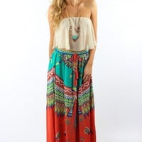 Take Me To Paradise Maxi Skirt