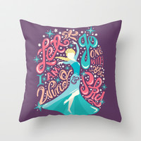 Frozen: Let It Go Throw Pillow by Risa Rodil