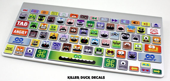 Little Monsters Macbook Keyboard Skin by killerduckdecals on Etsy