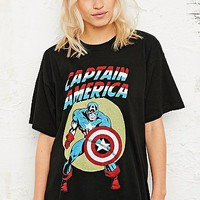 Marvel Captain America Tee in Black - Urban Outfitters