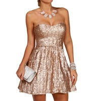 Jazzlynn-Bronze Homecoming Dress