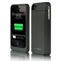 MaxBoost External Battery Power Case for Apple iPhone 4 / 4S [AT&T, Verizon Wireless, Sprint] (Black)