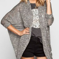 FULL TILT Marled Womens Elbow Sleeve Cocoon Sweater