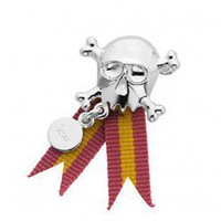 Skull & Tag brooch (Karen Walker) (Sterling silver) - Brooches - HoneyHoney - Australia