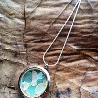 Living Locket Sea Glass Necklace