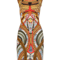 Buy ALEXANDER MCQUEEN Samurai print dress from Matches Fashion