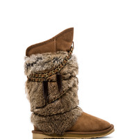 Australia Luxe Collective Rabbit Atilla Fur in Tan