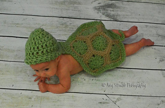 Baby Hatchling Turtle  Newborn Hat  Baby by BeyondGenesis on Etsy