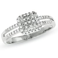 1/4 CT. T.W. Diamond Split Shank Ring in 10K White Gold