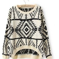 2013 Autumn New Casual Knit Woman Pullovers Sweater (Beige)
